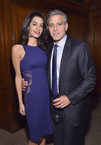 Image result for Actor George Clooney's wife, Amal pregnant with twins